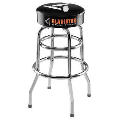 Gladiator 30 in. H x 15 in. W, Padded Swivel Garage Stool Project Workspace Seat