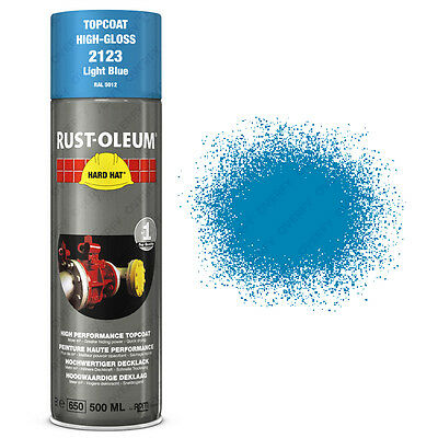 x1 Ultra-High Coverage Rust-Oleum Light Blue Spray Paint Hard Hat 500ml RAL 5012