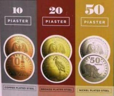 NEW South Sudan Piaster Coins SET ( 10, 20,50 Piasters ) Issued 2015 - UNC
