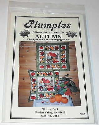 Plumples Pillows For All Seasons Autumn A Pillow OR Wallhanging Pattern 1999