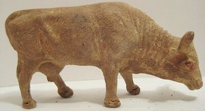 Old 1920s German Composition Cow for Christmas Putz Village or Farm