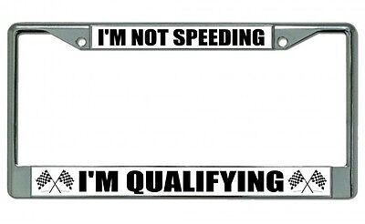 I/'m speeding because I have to poop funny humor license plate frame holder