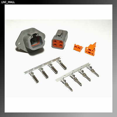 Deutsch DTP 4-Pin Genuine Flange Connector Kit with 10-12 AWG Stamp Pins