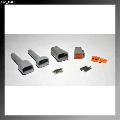 Deutsch DTM 6-Pin Genuine Connector Kit 20AWG Solid Contacts with Boots