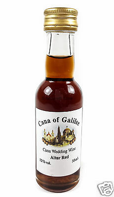 Holy Land Cana of Galilee Sweet Red Wine Small Gift From Israel 40 ml