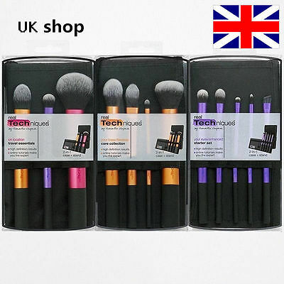 3 sets Real Techniques Makeup Brushes Core Collection,Starter Travel Essentials