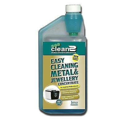 James Products Sea Clean 2 1L Ultrasonic Cleaning Fluid Solution Cleaner New