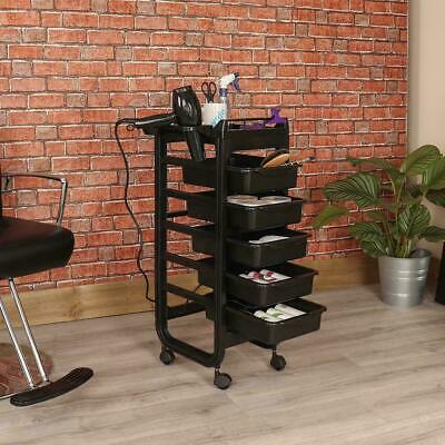 Wido SALON HAIRDRESSER BEAUTY SPA HAIR TROLLEY BARBER ROLLING STORAGE 5 DRAWER