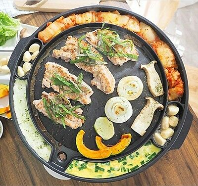 Korean BBQ Grill Stove top BBQ Galbi Samgyupsal Pork Bell Grill Barbeque Grill