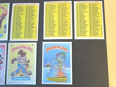 1986  86  Garbage Pail Kids GPK USA Series 4 four Complete Set Errors 84 cards!
