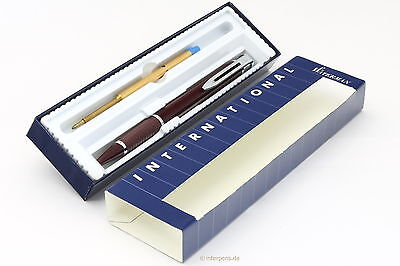 WATERMAN INTERNATIONAL Ballpoint Burgundy France Boxed NEW