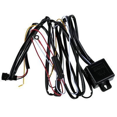 DRL Daytime Running Light Relay Harness Auto Car Control On/Off Switch 12V PK