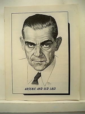 ARSENIC AND OLD LACE Playbill BORIS KARLOFF / RUTH McDEVITT / JEAN ADAIR MO 1944