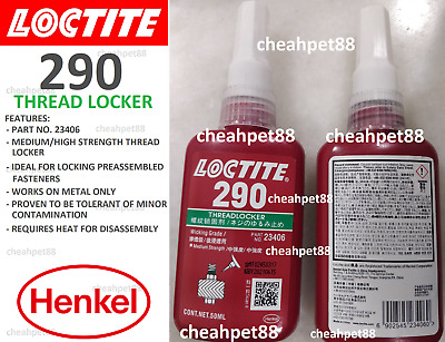 LOCTITE 290 Wicking Grade Medium-High Strength Threadlocker 50ml - Free Shipping