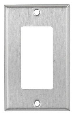 Decorator 1-Gang Brushed Stainless Steel Wall Plate Metal Wallplate Decora Style