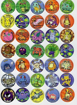 Coleccion Completa 50 Taso Pokemon 1998 Lays Tazo Caps (Turkish 1ª Edition)