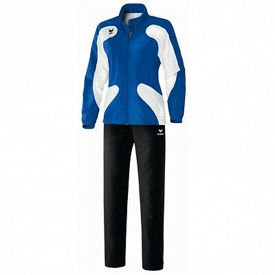 Erima Scorer Line Präsentationsanzug Trainingsanzug Damen new royal blau / weiß