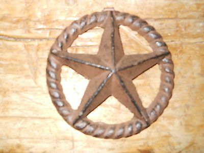 3 Cast Iron Stars Architectural Stress Washer Texas Lone Star Rustic Ranch 5""