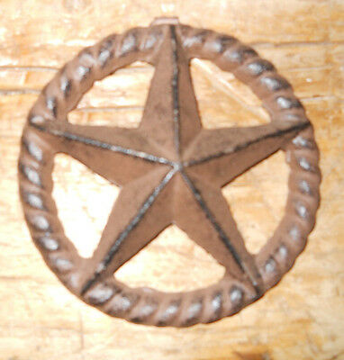 Cast Iron Stars Architectural Stress Washer Texas Lone Star Rustic Ranch 5""