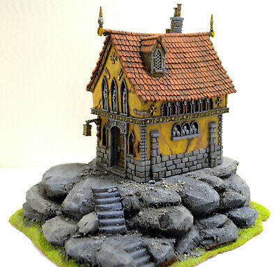 "Warhammer War Game Scenery ""chapel"" Age Of Sigmar - Mordheim City Pro Painted"