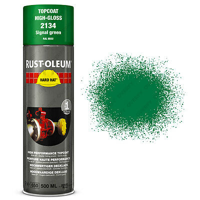 x1 Ultra-High Coverage Rust-Oleum Signal Green Spray Paint Hard Hat RAL 6032
