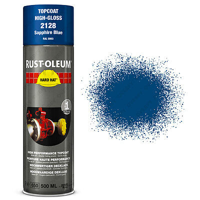 x1 Ultra-High Coverage Rust-Oleum Sapphire Blue Spray Paint Hard Hat RAL 5003