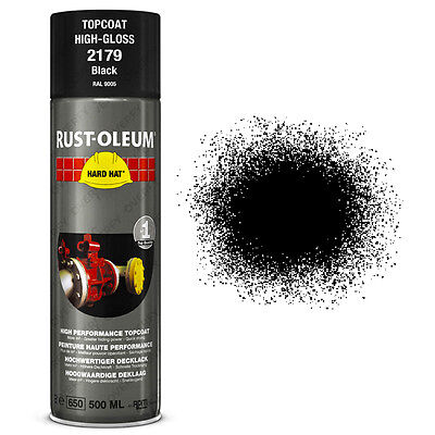 x1 Ultra-High Coverage Rust-Oleum Gloss Black Spray Paint Hard Hat RAL 9005
