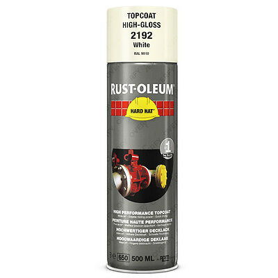 x1 Ultra-High Coverage Rust-Oleum Gloss White Spray Paint Hard Hat RAL 9010