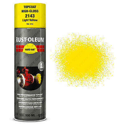 x1 Ultra-High Coverage Rust-Oleum Light Yellow Spray Paint Hard Hat RAL 1018