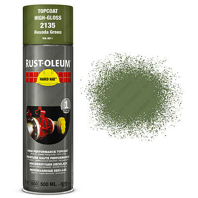 x1 Ultra-High Coverage Rust-Oleum Reseda Green Spray Paint Hard Hat RAL 6011