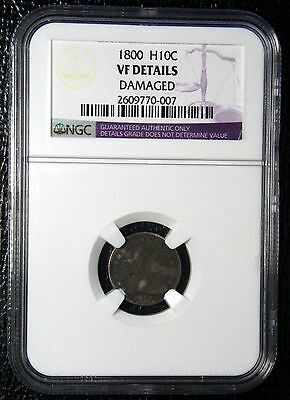 1800 Scarce Rare Draped Bust Half Dime 5¢ Coin VF Details NGC Lot# MZ 2517