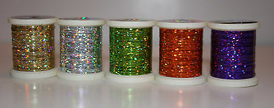 5 Spools Danville Fly Tying Holographic Tinsel 5 Colors