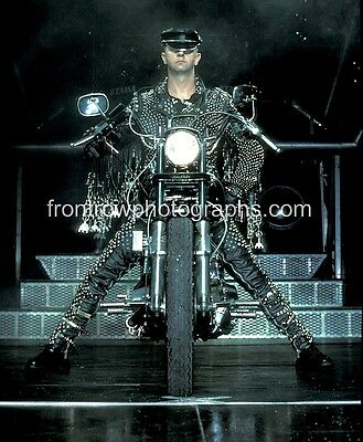 "Judas Priest RON HALFORD 8""x10"" Color Photo on his Harley"