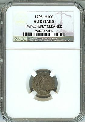 1795 Flowing Hair Half Dime Ngc Certified Au Details Very Rare Type