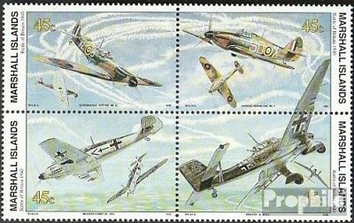 Marshall-Islands 314-317 block of four fine used / cancelled 1990 History of II.