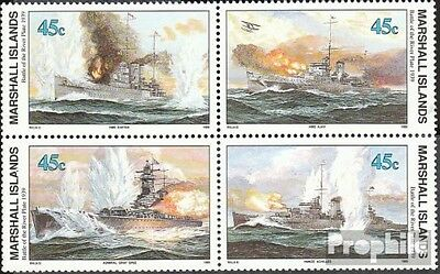 Marshall-Islands 276-279 block of four fine used / cancelled 1989 History of II.