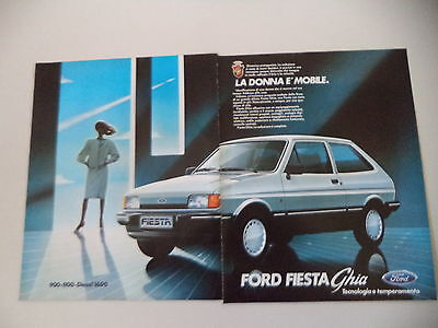 advertising Pubblicità 1984 FORD FIESTA GHIA