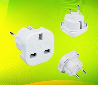 DI General UK to EU Power Plug Travel Charger Adapter Socket Outlet Converter