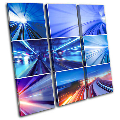 Transportation City Urban concept Abstract Canvas Artwork Picture Print Photo