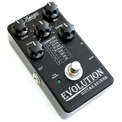 Adagio Evolution Guitar Reverb Effects FX Pedal - NEW RRP £99.99