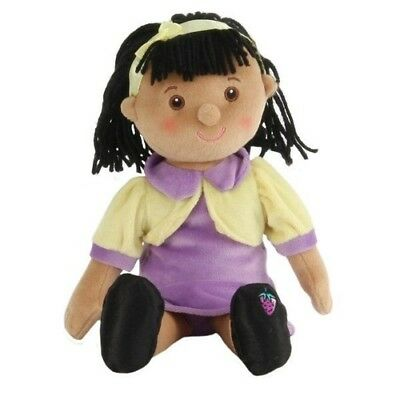 Gorgeous WILBERRY Soft PLUSH CLOTH RAG Girl DOLL  Pretend PLAY TOY - Amy 30 cm