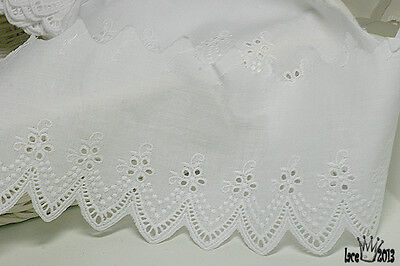 14yards Broderie Anglaise Embroidery cotton lace trim 2cm white YH875 laceking