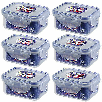 6  X Lock & Lock Food Storage Container 180ml HPL805 100% AirTight  BPA FREE