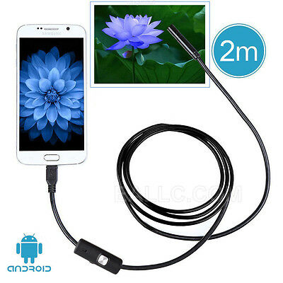 2M IP67 Waterproof 7mm Phone Endoscope Camera for Android Samsung S6/S7 Edge UK