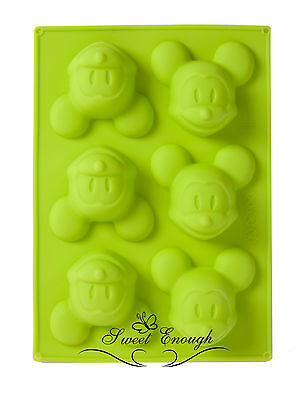 Silicone Mickey Mouse Cupcake Muffin Mold Chocolate Jelly Cake Pan Tin Mould