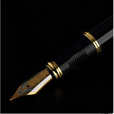 Gift Medium X450 Gold Black Fountain Business Pen JinHao Nib
