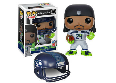 Funko Pop NFL Wave 2: Marshawn Lynch Vinyl Action Figure Collectible Toy, 7562