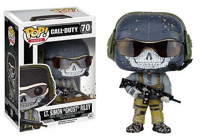 """Funko Pop Games Call Of Duty: Lt. Simon """"Ghost"""" Riley Vinyl Action Figure Toy 70"""