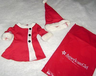 "American Girl Doll 18"" Santa Dress Hat Christmas New In Package"