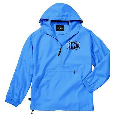 Monogrammed Pullover Rain Jacket. Charles River Light Weight Pack-N-Go. 9904